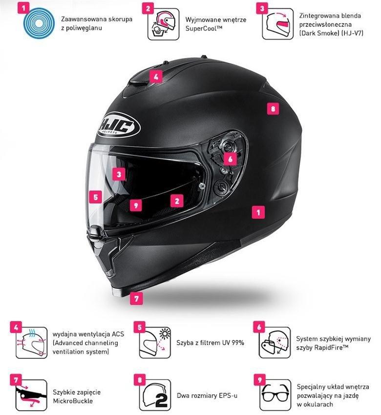 Helmet HJC C70 VALON BLACK//FLO GREEN XL