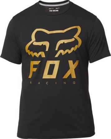 T-SHIRT FOX HERITAGE FORGER TECH BLACK/YELLOW