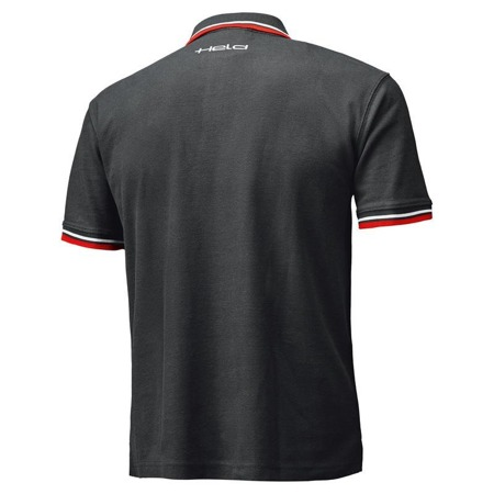 T-SHIRT HELD POLO BIKERS BLACK/RED
